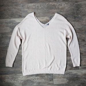 Charlotte Russe Blush Pink V Neck Sweater